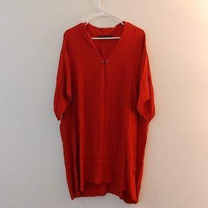 Orange Zara dress/tunic